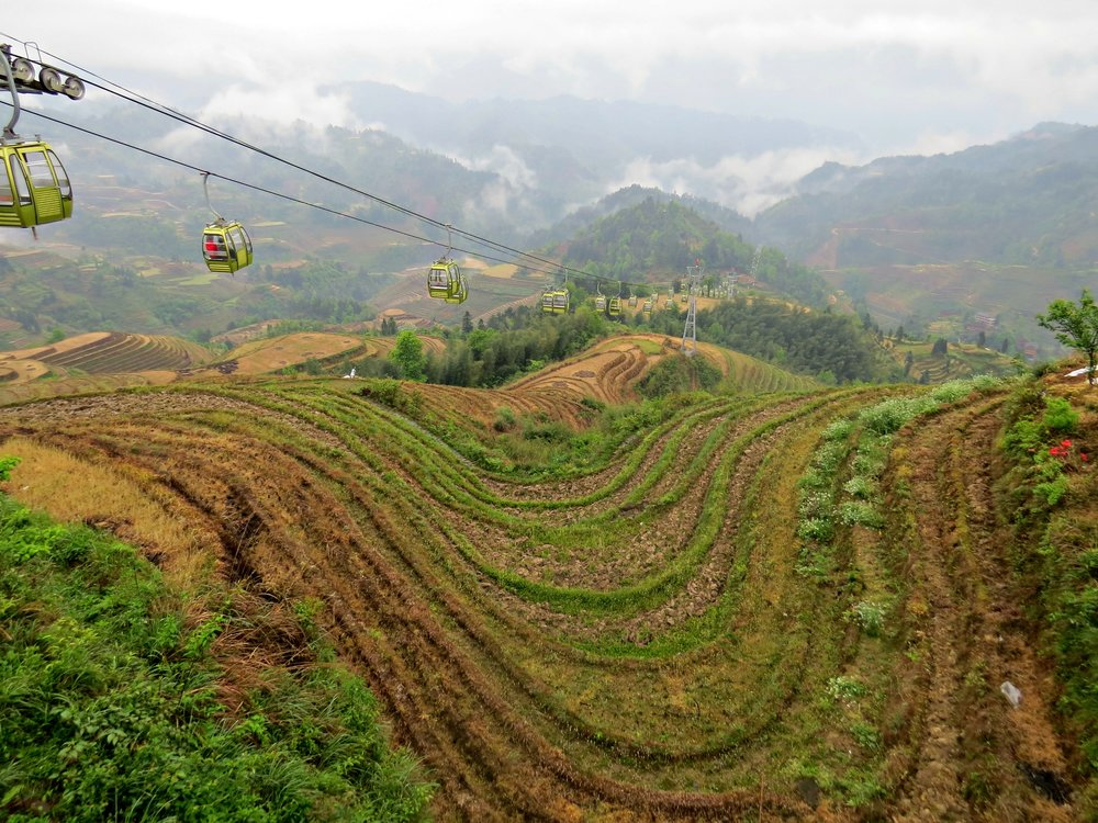 Cable Car in Dazhai