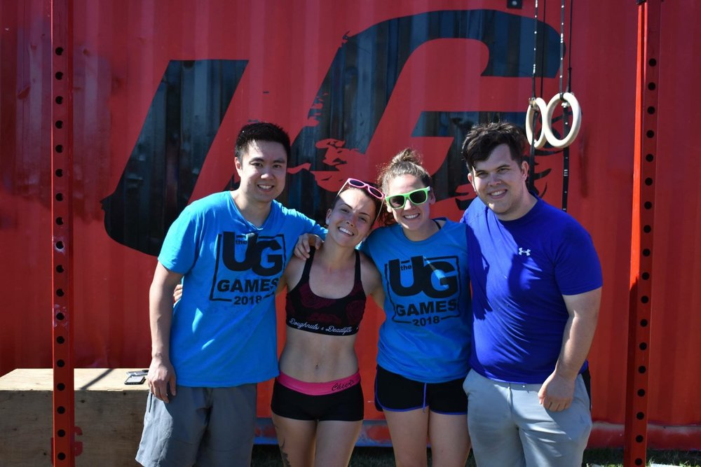 Ed, Cassie, Becka & Colin this past weekend at UG Games in Collingwood.