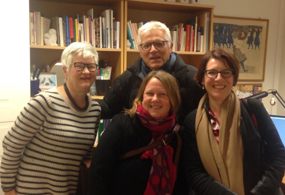 Me with Tor, Kirsti and Vilde from the government run Enerhaugen Family Service and the NGO - Oslo City mission. These agencies collaborate to run parenting programs especially for parents from migrant and refugee backgrounds who have had children removed.
