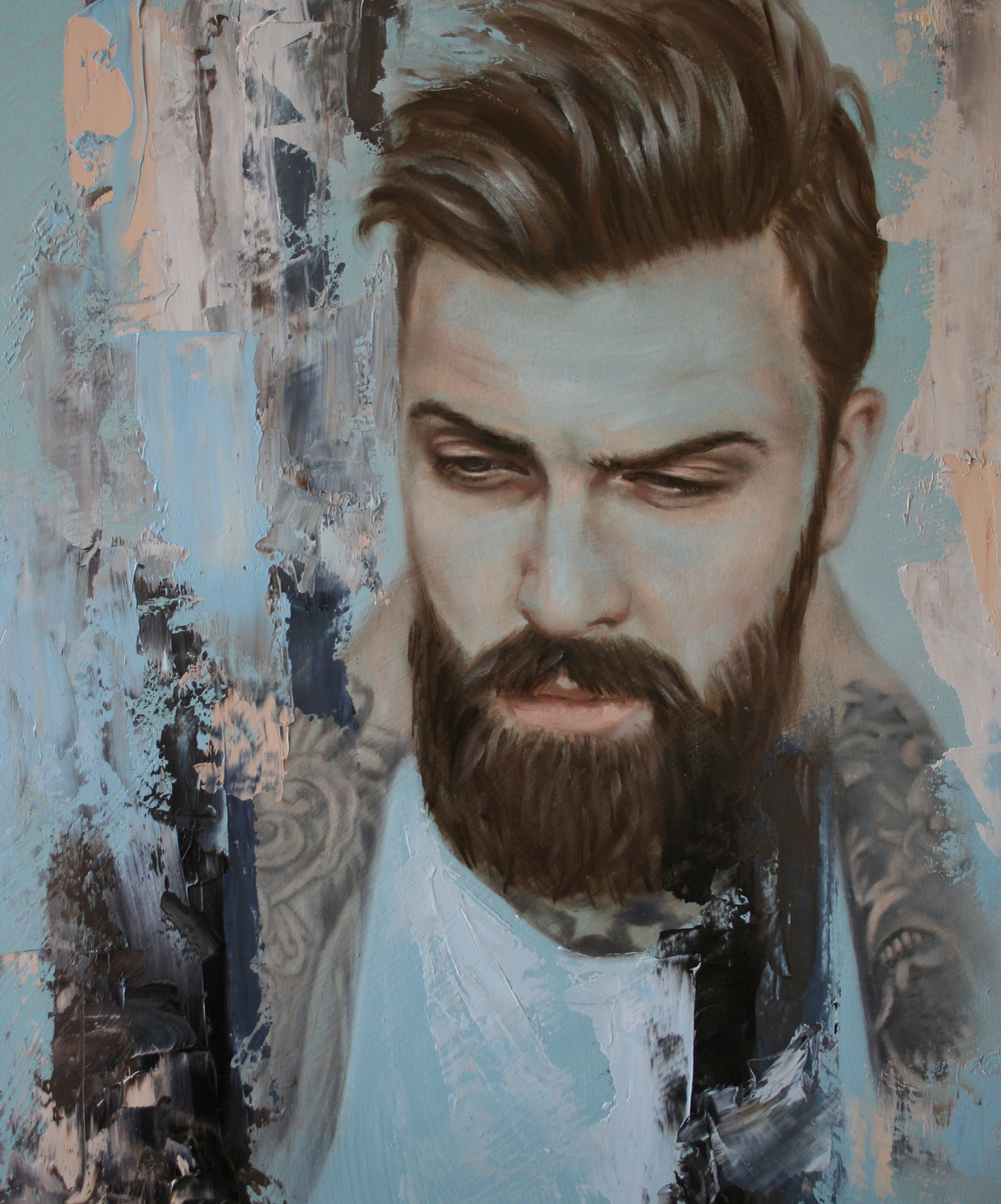 Levi Stocke painting by Meredith Marsone