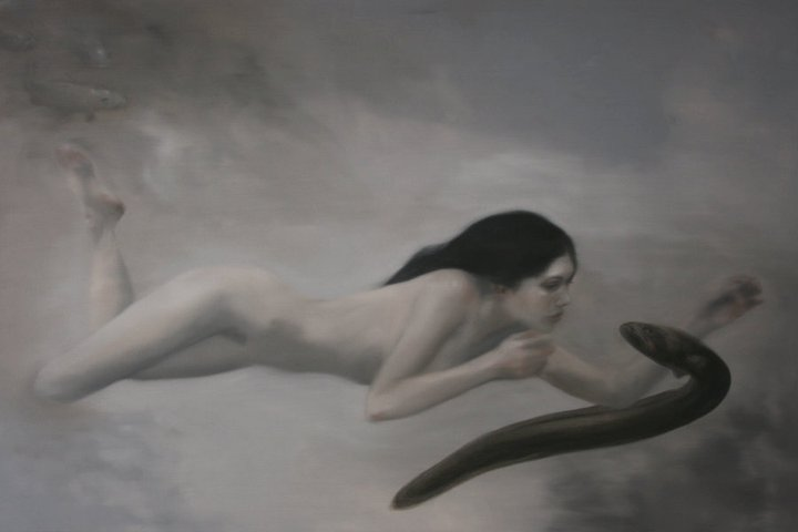 'Seduction - Exotic Native, Water Series' 2007, oil on canvas