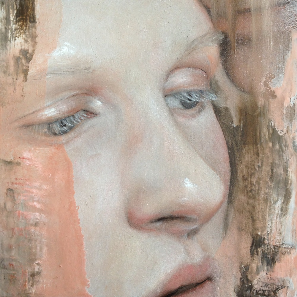 Intimates Series II, oil on board, 100 x 100mm (pretty small!)