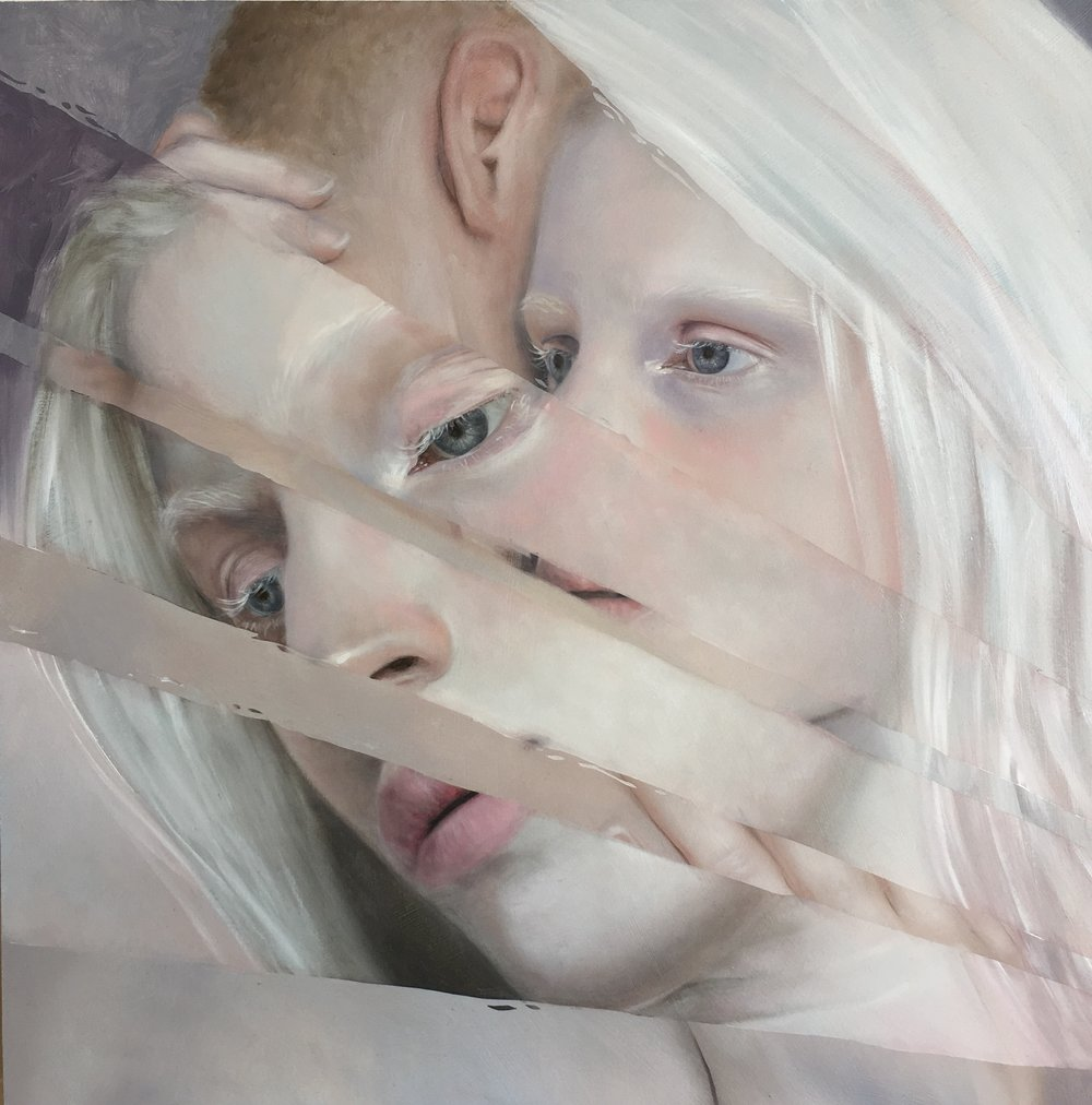 "Fracture/Memory, oil on board, 12 x 12"" 305 x 305cm"
