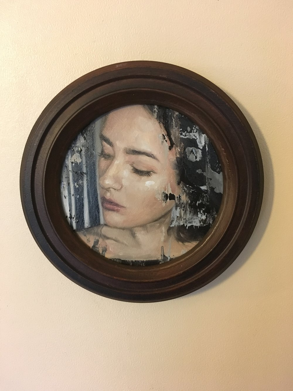Daughter, oil on canvas, 200 x 200mm