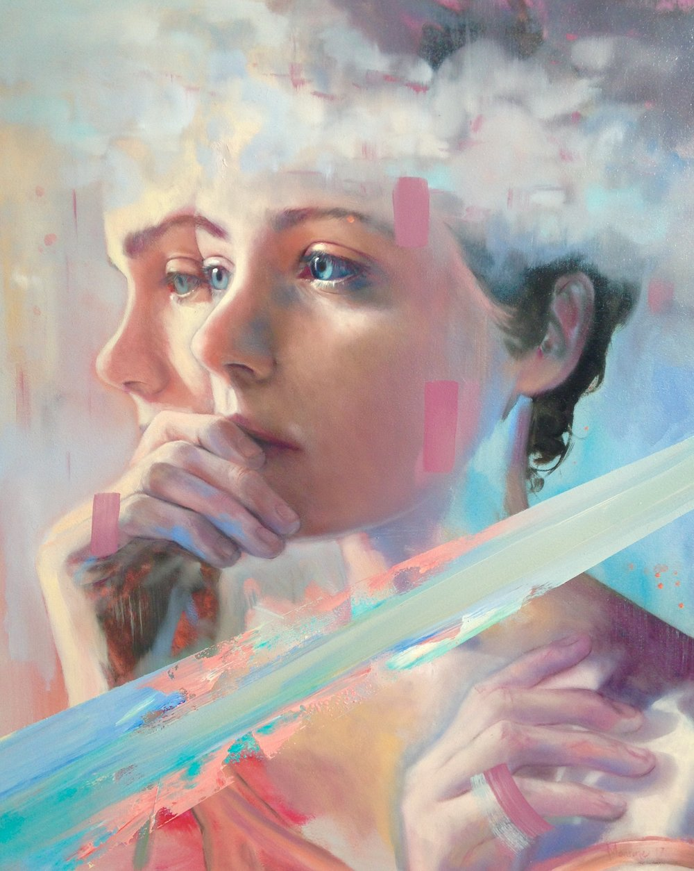 Refraction   oil on board  500 x 400mm  Available from  Pen&Brush, NY