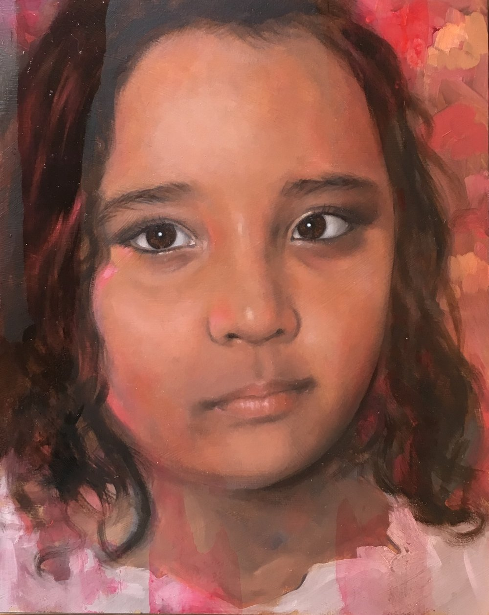 - An example of a recent commission. The client was in a different country so I worked from a photograph of his daughter.