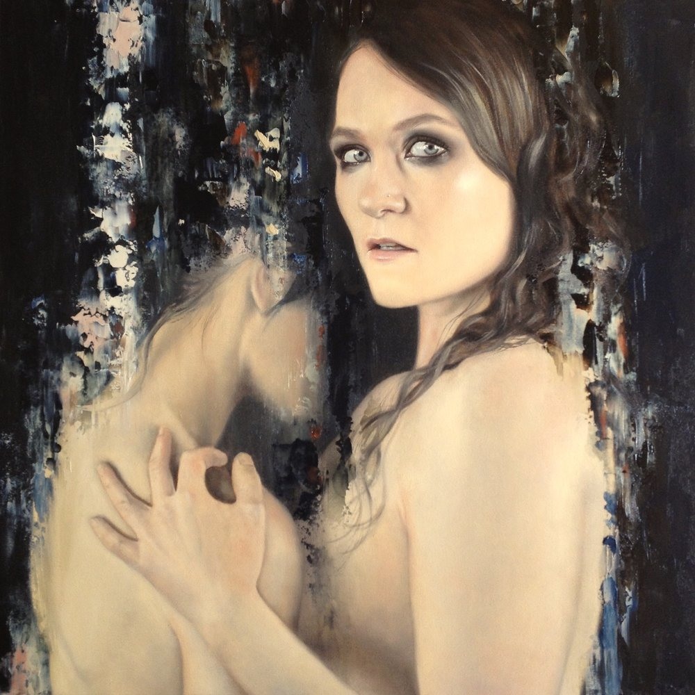 Lovers 2016, oil on canvas, 500 x 500mm