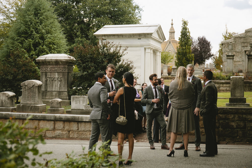 Destination Wedding Photographer Atlanta Graveyard Fall Wedding