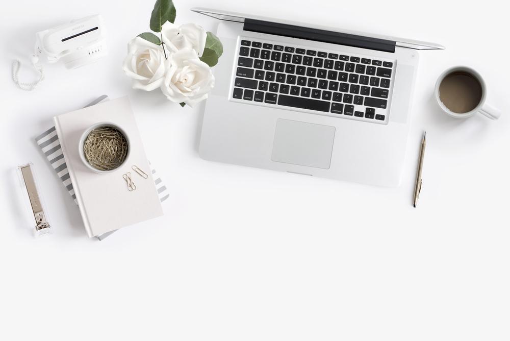 White Desktop Stock Imagery