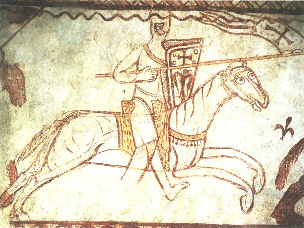Templars' Chapel mural at Cressac-sur-Charente