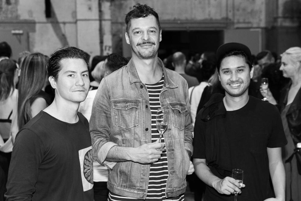 Fashion designer Andy Lee,Ollie Cotsaftis & Ian Lacanilao