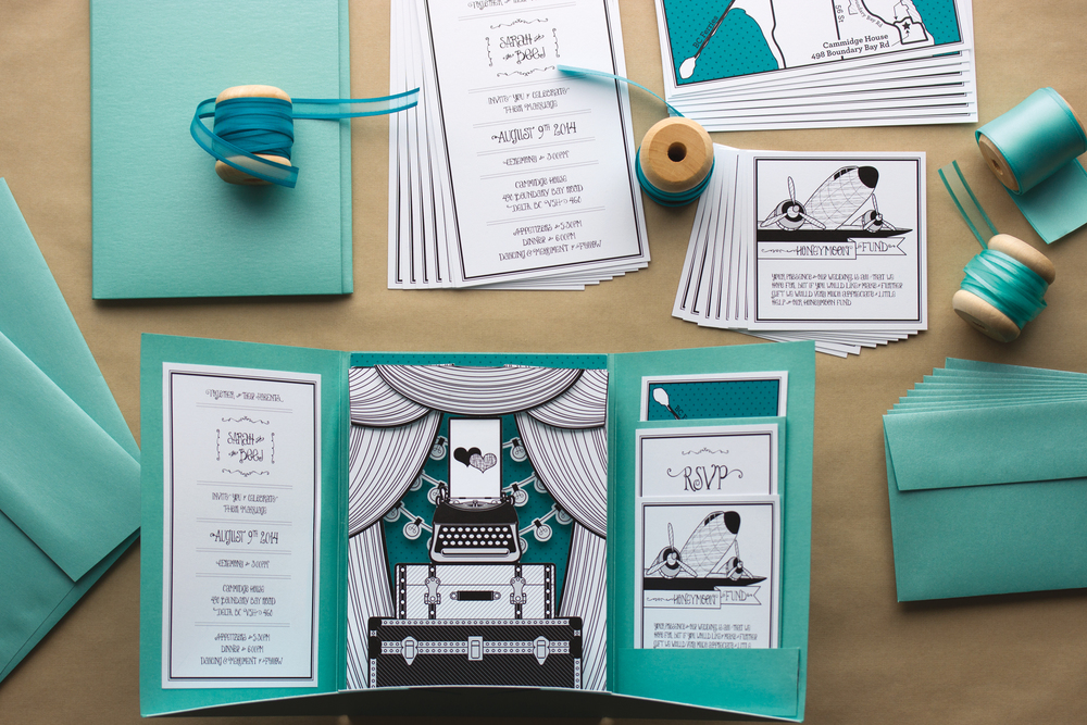 Click to View – Antique Inspired Pop-Up Wedding Invitation
