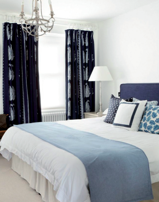 Salcombe, interior design, bedroom