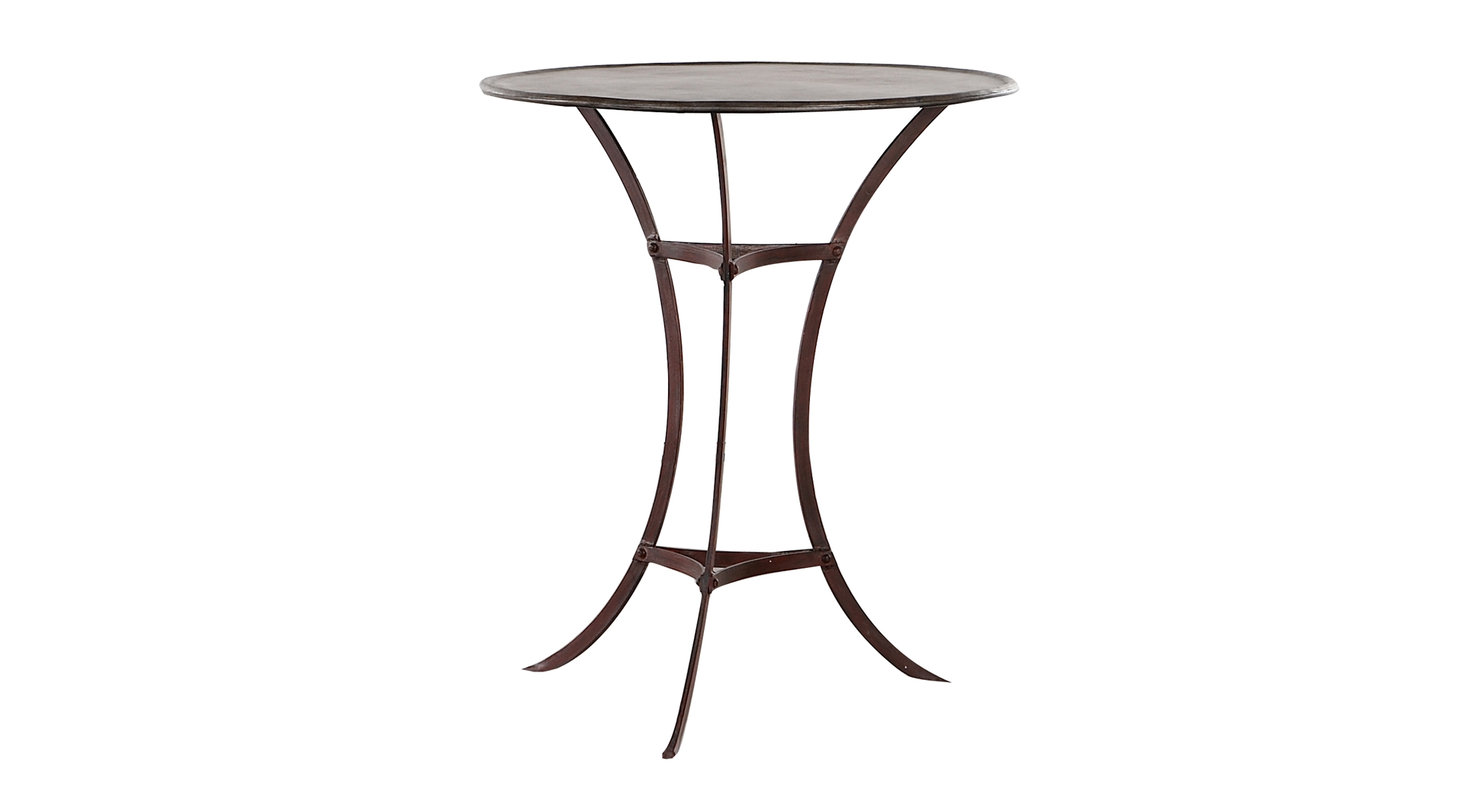 this is a iron side table sold by ham interiors