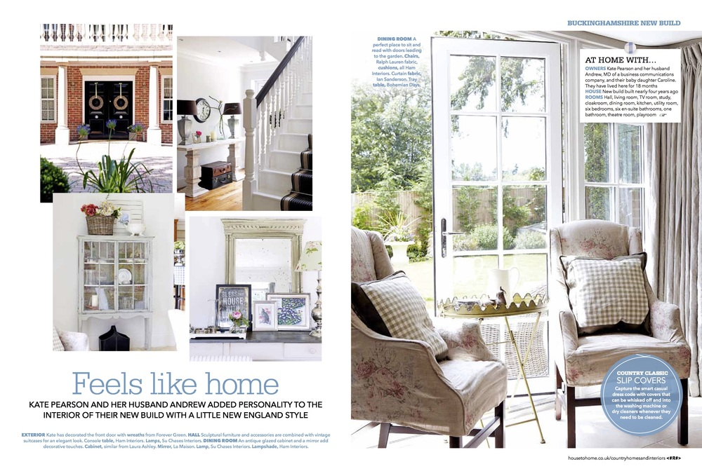 Country Homes April 2012 Front Cover, Ham Interiors Pg1