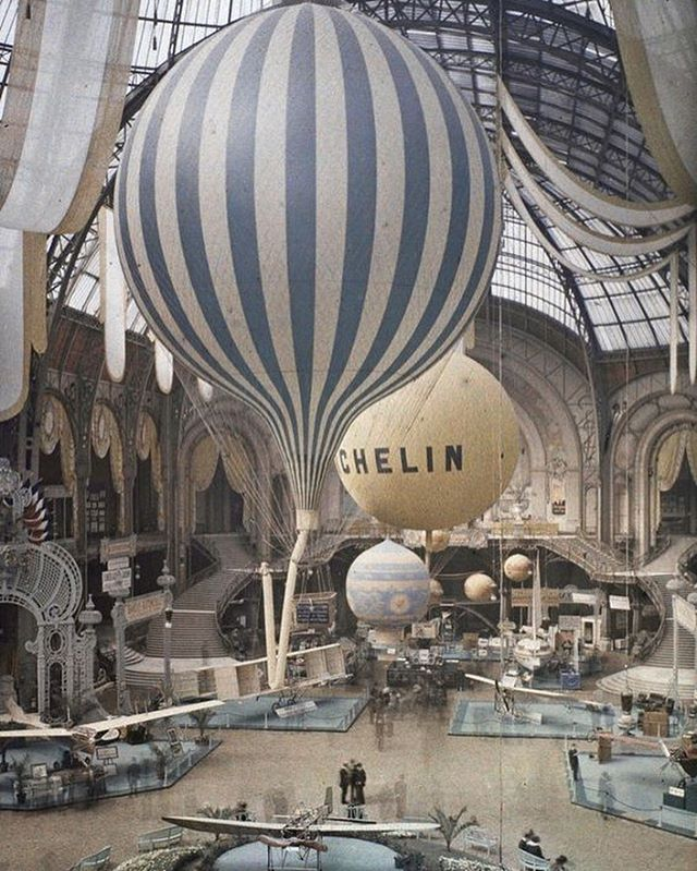 ✨On route to Paris for Maison Objet.. 📸Air show in 1909 at the Grand Palais, Paris by Leon Gimpel✨ . . #paris #maisonobjet #airballoons #interiordesign #history #parisianstyle #architecture #designinspo #ihavethisthingwithstripes #architectureinspo #designlife