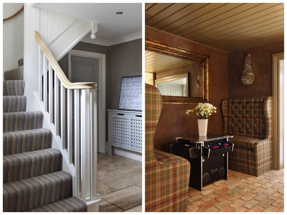 Grand Ham Interiors Staircase And Seating Area Design Hertfordshire Family Home