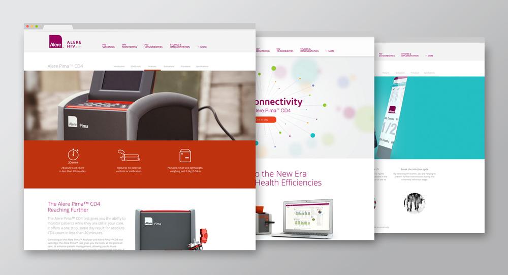 Alere HIV website re-design