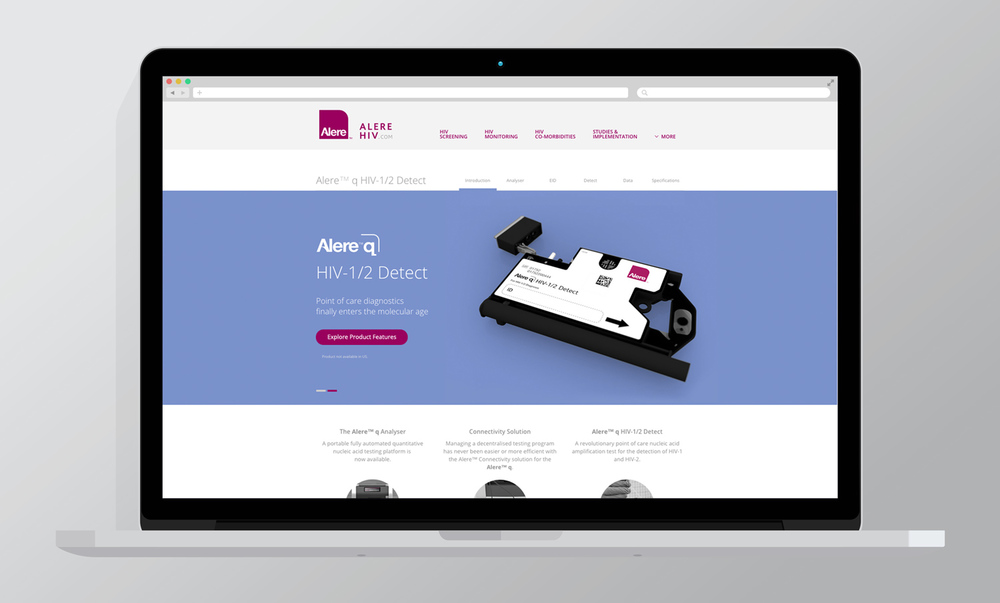 Alere™ q HIV 1/2 Detect - New product integrated into the Alere HIV website