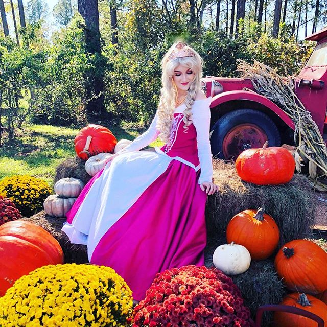 We wish everyone a harvest of happiness and health! #holidaycheer #thanksgiving #fall #fallharvest #happythanksgiving #princessparty #partyperformer #princesscosplay #disneycosplay #aurora #princessaurora #sleepingbeauty #disneyprincess #facecharacter #cosplayprincess #cosplaylife #disneylife #princesslife #texas #austin #bastrop