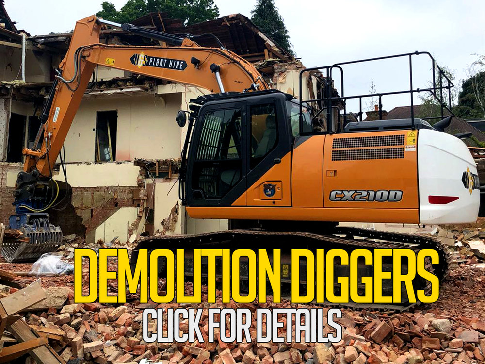 demolition diggers for hire