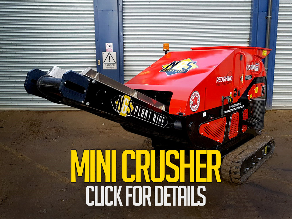 mini crushers for hire