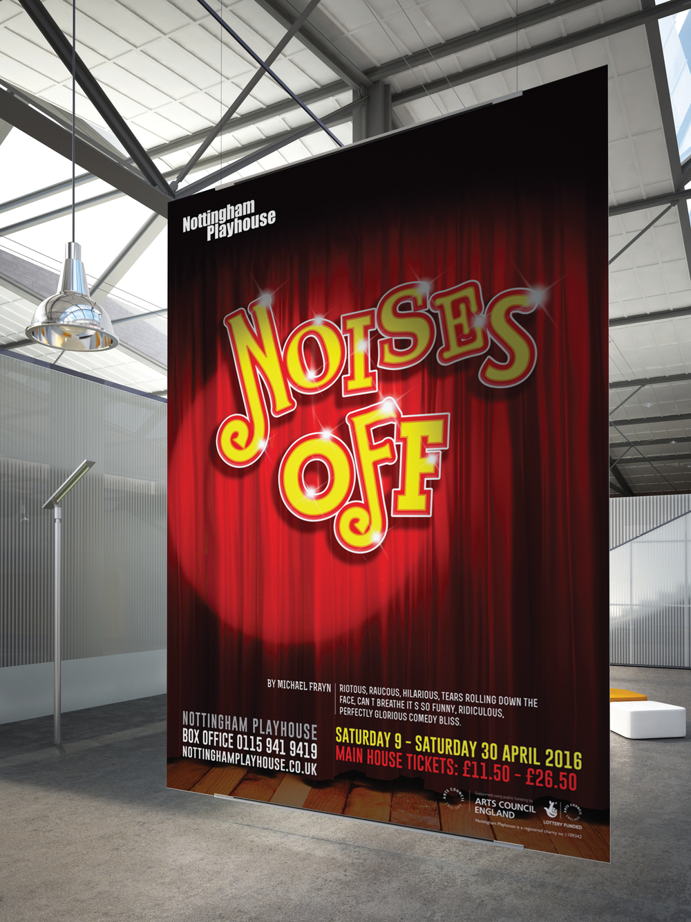 Poster design nottingham - Noises Off Poster Jpg