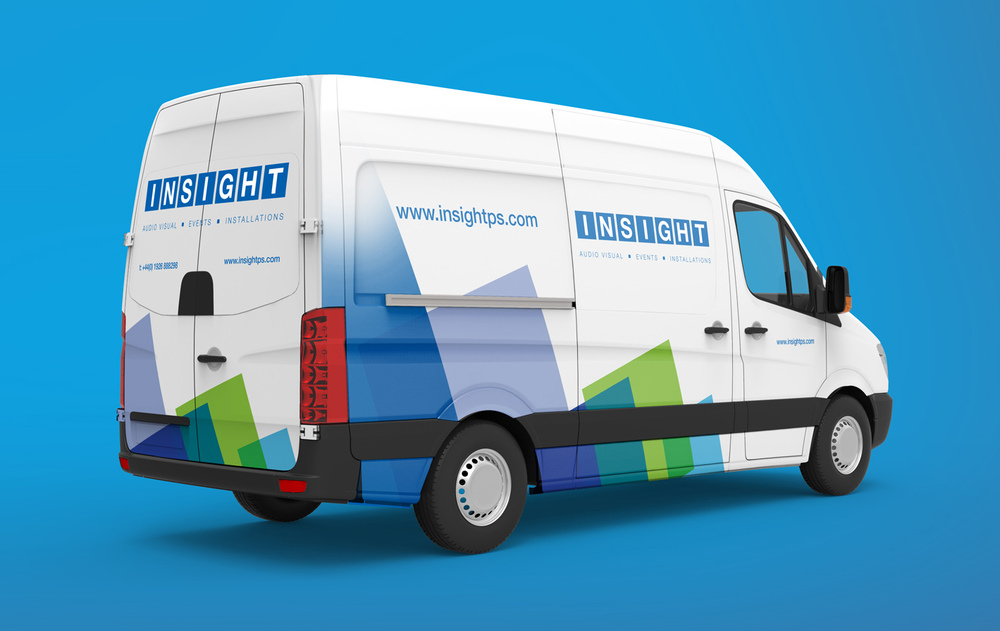 Van livery design for Warwick based company Insight.