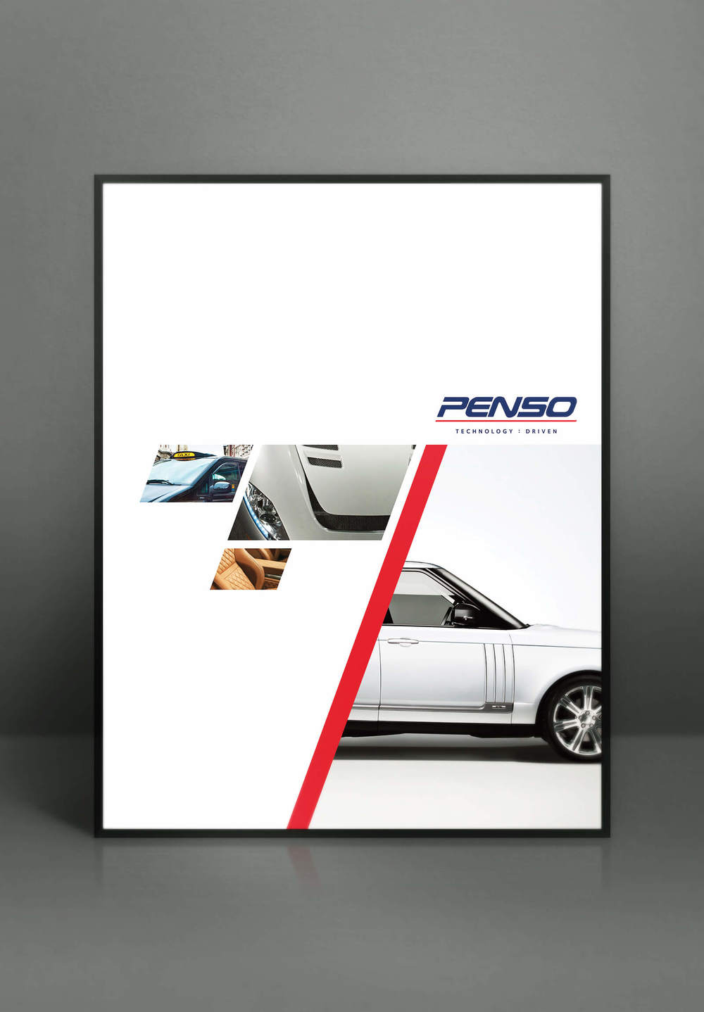 A beautiful, clean design to demonstrate the new visual langauge of the Penso branding completed by Create Onsight.