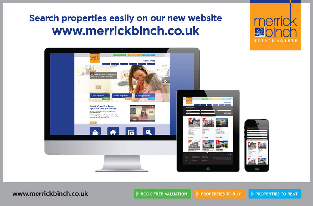 Create onsight advert design for Merrick Binch, Coventry