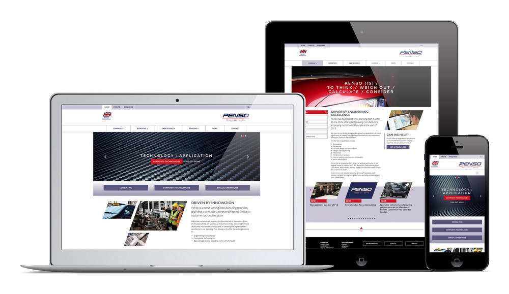 A beautiful, responsive website designed by Create Onsight for Penso.