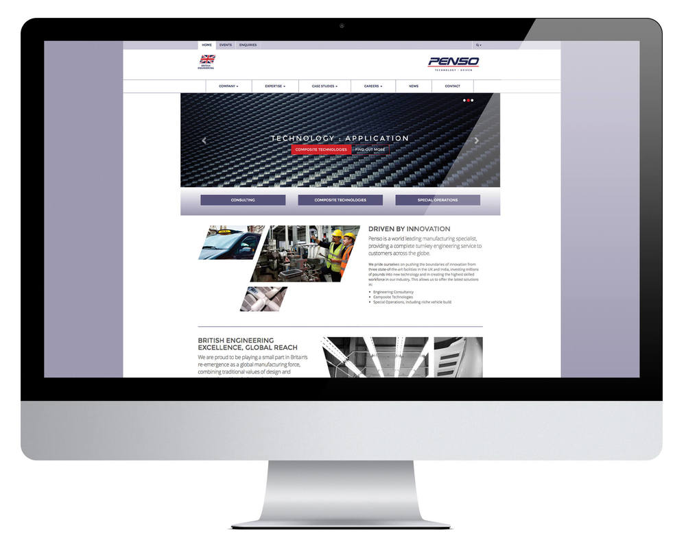 Penso website desktop version.