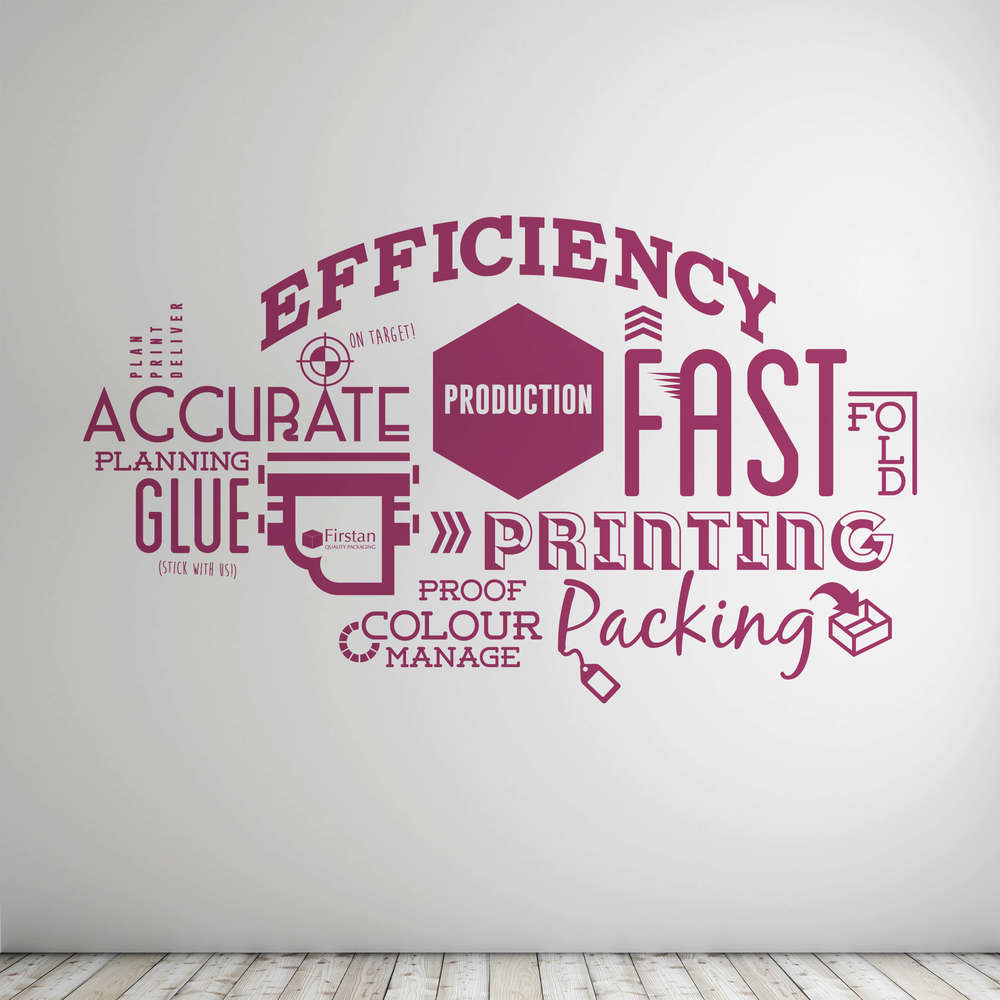 Design of typography style wall viny from Create Onsight.
