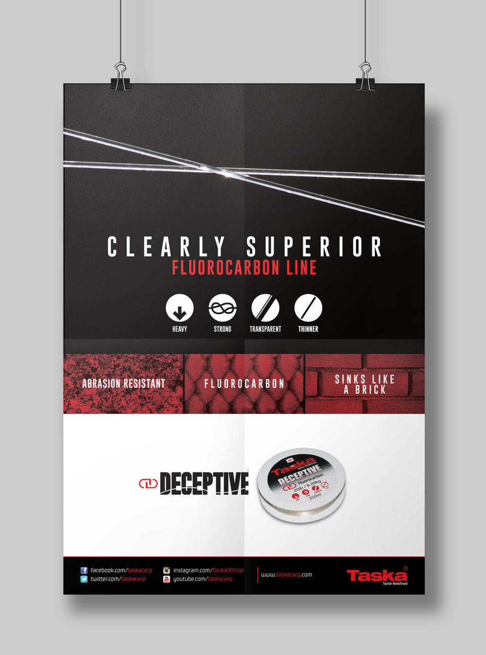 Graphic design poster artwork for Taska's product launch of Deceptive.