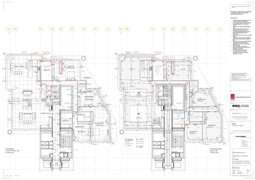 amended production information drawings