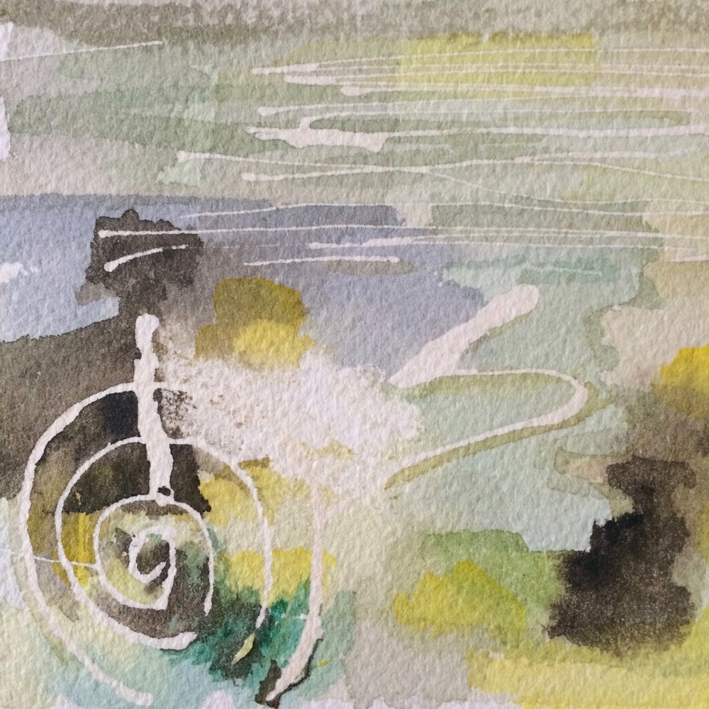 'Re-activation Of Vortex'   2015  Watercolour on Arches cold press, acid free, 140lb / 300gsm watercolour paper.  Original  NOT FOR SALE   Prints €35
