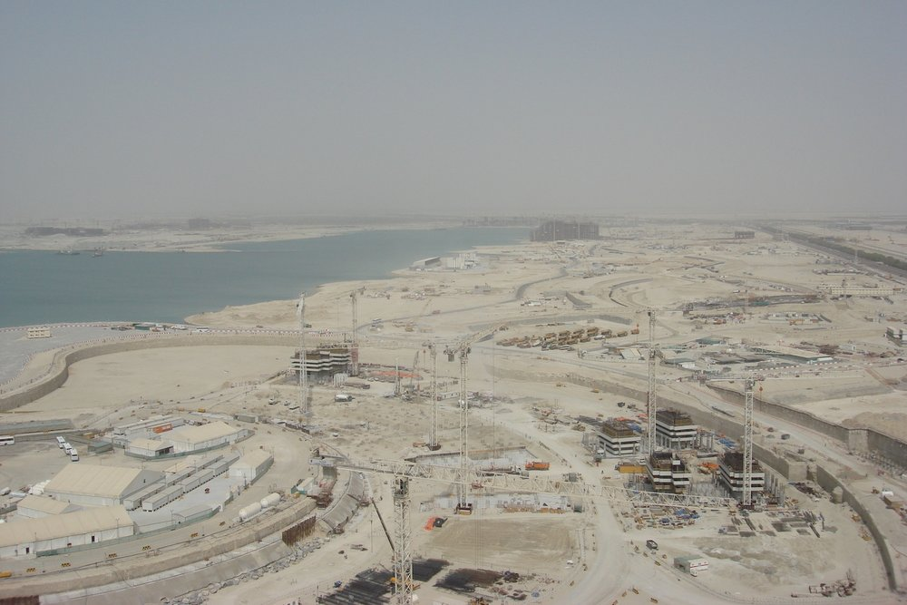 Photo I took from the 22 floor - looking at Al Raha and Yas island, Sept 2008