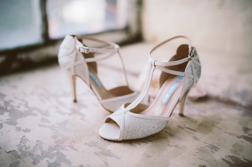 Super sparkly Charlotte Mills shoes at ONE1 bridal