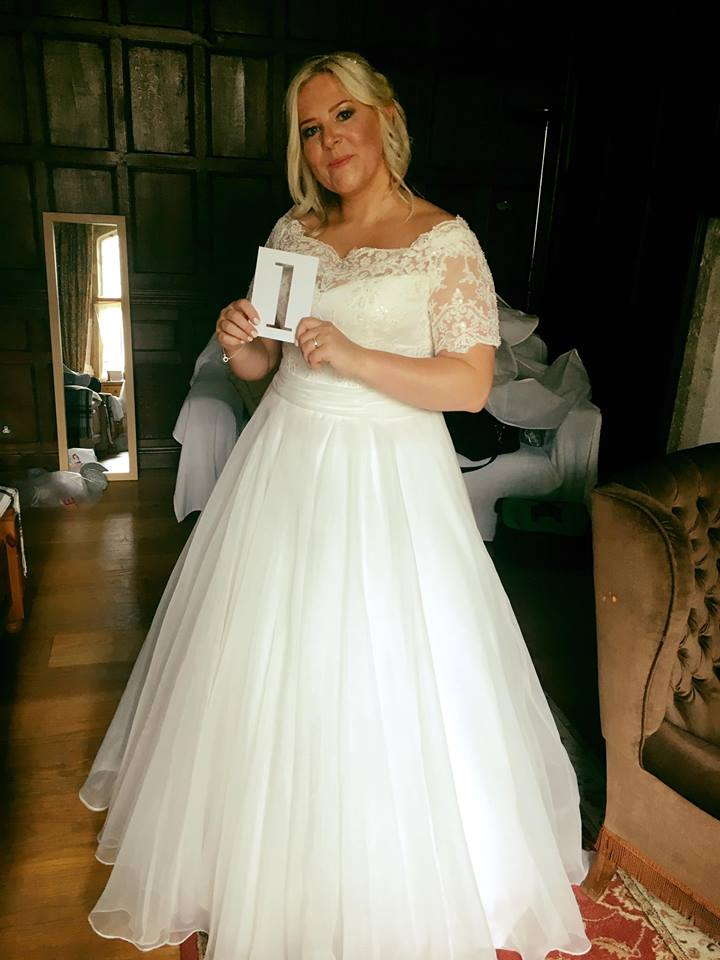 Real bride in her wedding dress Cardiff one1 bridal