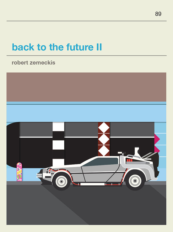 Back to The Future Movie Poster - £22 plus shipping -  click here