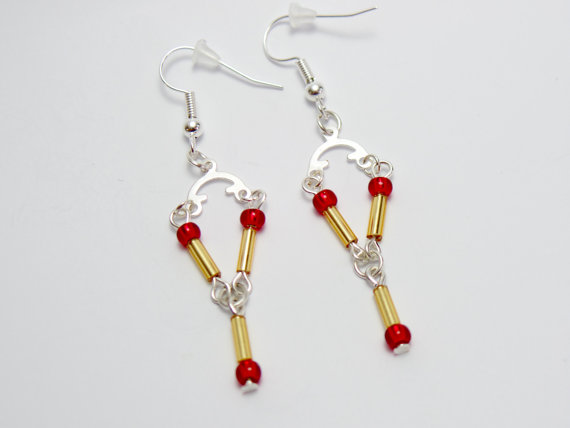 Back to the Future inspired Flux Capacitor Earrings - £4 plus shipping -  click here