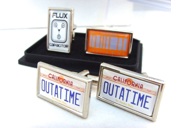 Back to the Future Car Number Plate Flux Capacitor Cufflinks - £10.95 plus shipping -  click here