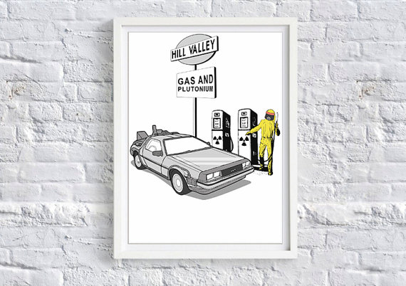 Back to the Future Hill Valley Gas Station Limited Edition Art Print - £12.99 plus shipping -  click here