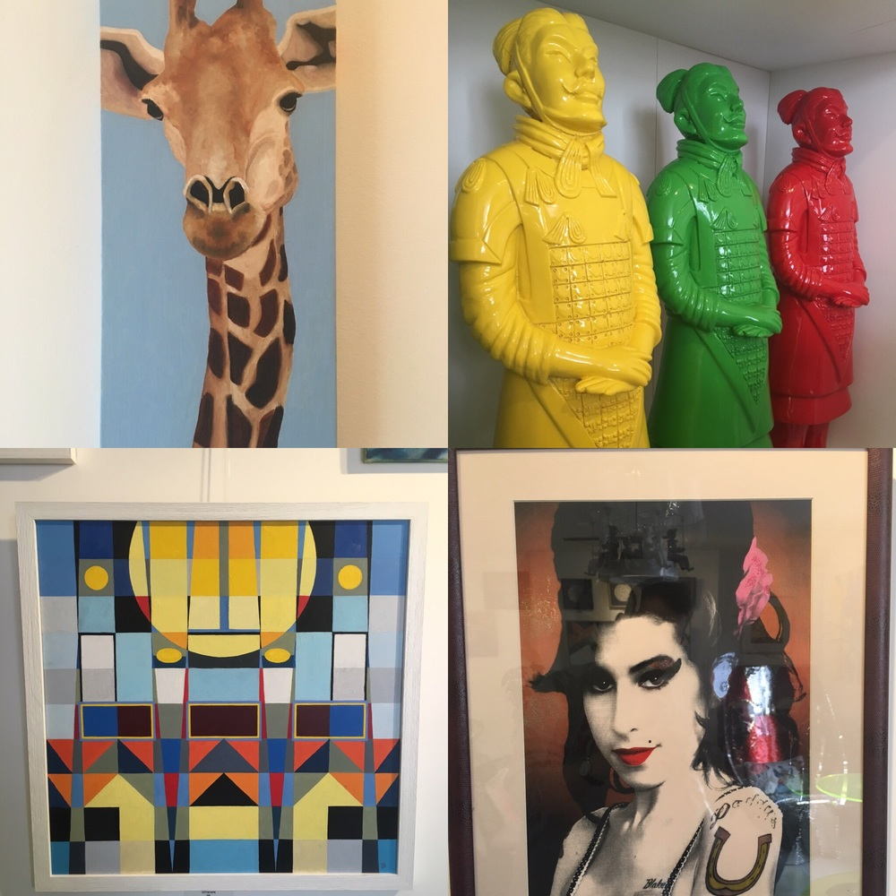 Meeting at Rendezvous Brighton regarding my Lego Charity appeal, and checking out the art work there