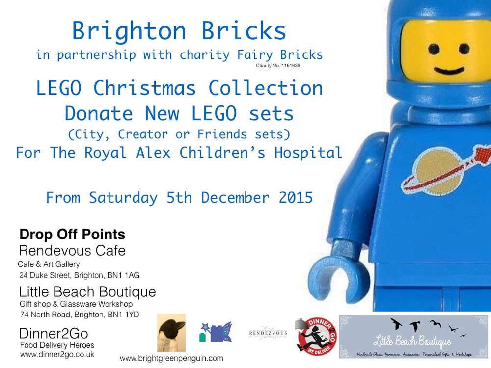 Launched the Brighton Bricks Charity Lego Drive this weekend