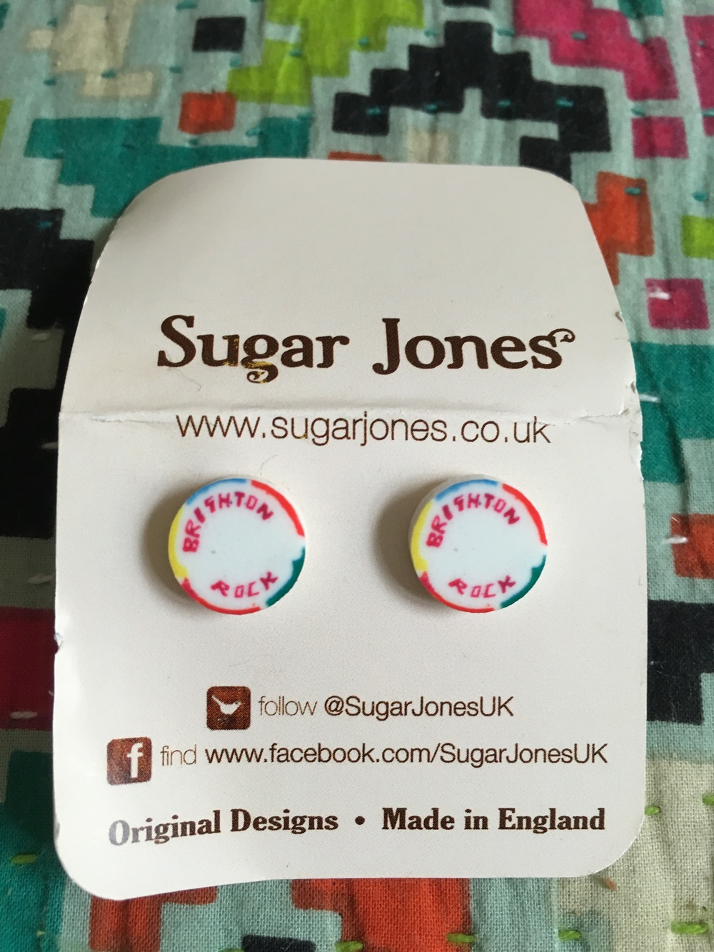 Day 14 & Brighton Rock earrings from Sugar Jones