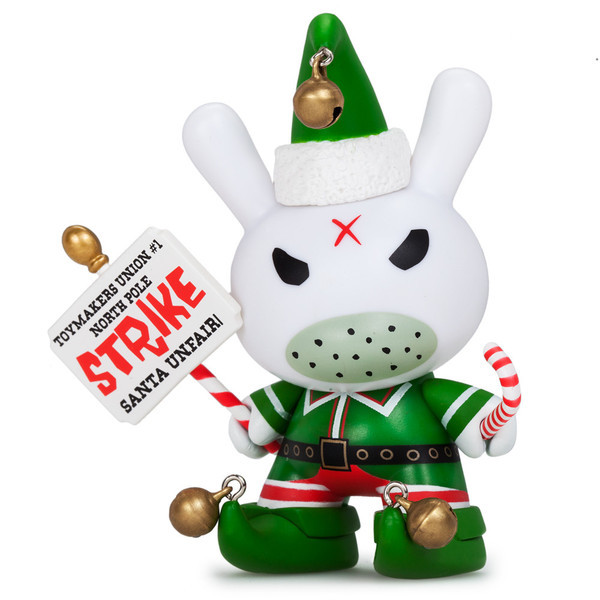"Kidrobot - 3"" Holiday Grumpy Elf Dunny - £16"