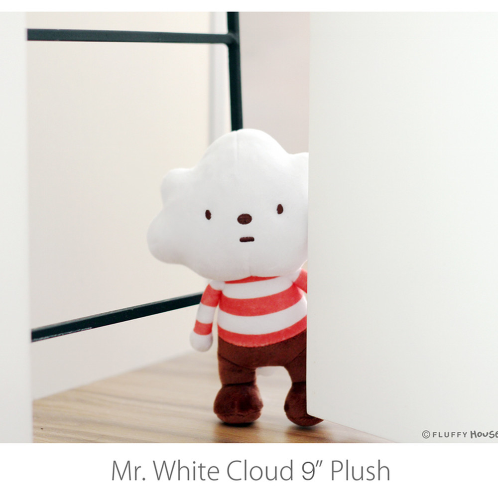 "Fluffy House - 9"" Mr White Cloud Plush - £16"