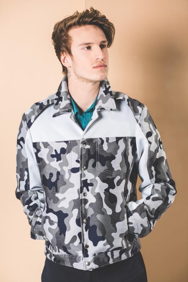 Camouflage White Contrast Jacket  £545