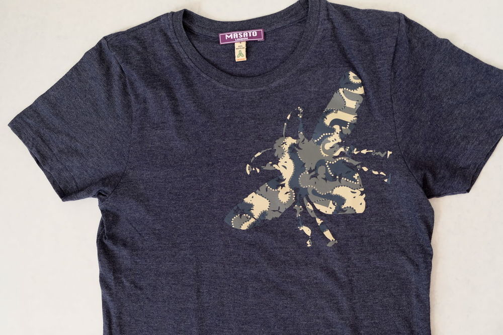 Bee Navy Melange T-Shirt  £28